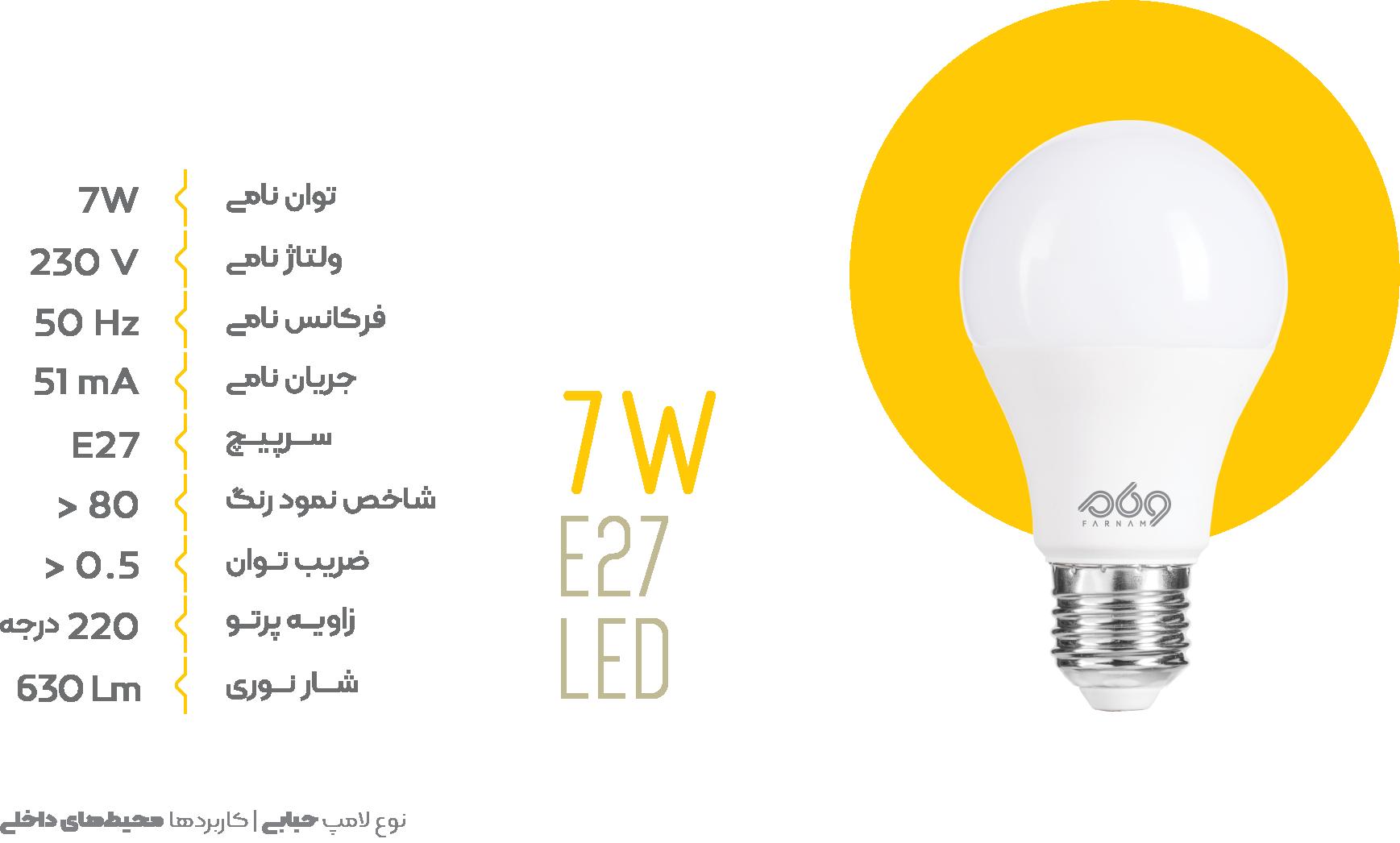 لامپ حبابی e27 led